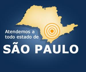 Atendimento em todo estado de São Paulo